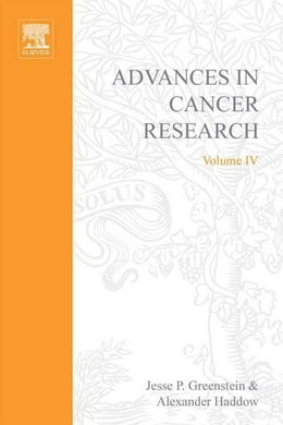 Book Advances in Cancer Research by Greenstein, Jesse P.