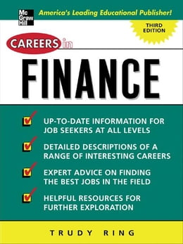 Book Careers in Finance by Ring, Trudy