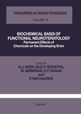 Book BIOCHEMICAL BASIS OF FUNCTIONAL NEUROTERATOLOGY by Feenstra, M.G.P.
