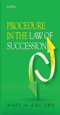 9789966530042 - Ang, A.: Procedure in the Law of Succession in Kenya - Book