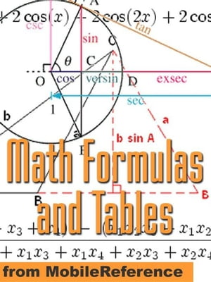 Math Formulas And Tables: Algebra,  Trigonometry,  Geometry,  Linear Algebra,  Calculus,  Statistics. Tables Of Integrals,  Identities,  Transforms & More (M
