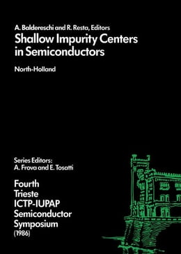 Book Shallow Impurity Centers in Semiconductors by Baldereschi, A.