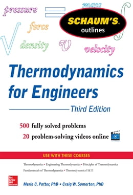 Book Schaum's Outline of Thermodynamics for Engineers, 3rd Edition by Merle Potter