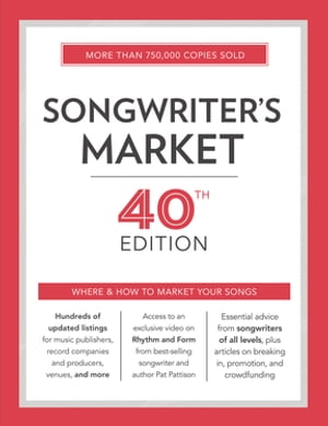 Songwriter's Market 40th Edition Where & How to Market Your Songs