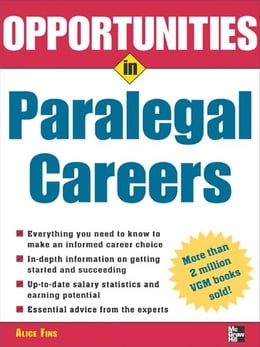 Book Opportunities in Paralegal Careers by Fins, Alice