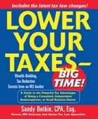 Lower Your Taxes - Big Time! ebook by Sandy Botkin
