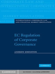 EC Regulation of Corporate Governance ebook by Andrew Johnston