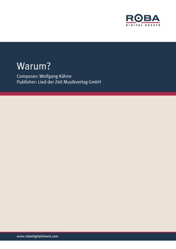 Warum? - Single Songbook ebook by Wolfgang Brandenstein