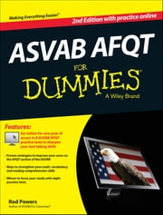 ASVAB AFQT For Dummies, with Online Practice Tests ebook by Rod Powers