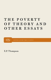 Poverty of Theory ebook by E. P. P. Thompson