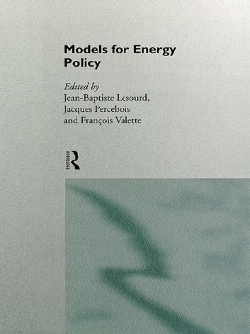 Models for Energy Policy ebook by