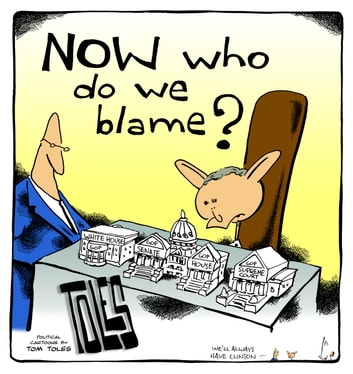 NOW Who Do We Blame? - Political Cartoons by Tom Toles ebook by Tom Toles