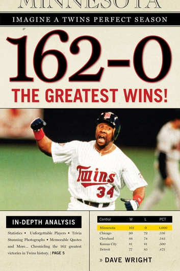 162-0: Imagine a Twins Perfect Season - The Greatest Wins! eBook by Dave Wright