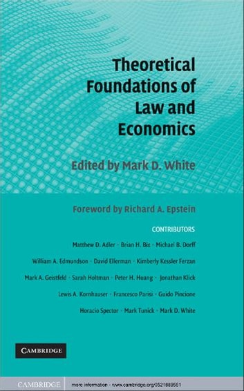 Theoretical Foundations of Law and Economics ebook by