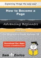 How to Become a Page ebook by Cheree Holcomb
