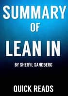Book Summary and Analysis of Lean In ebook by Quick Reads