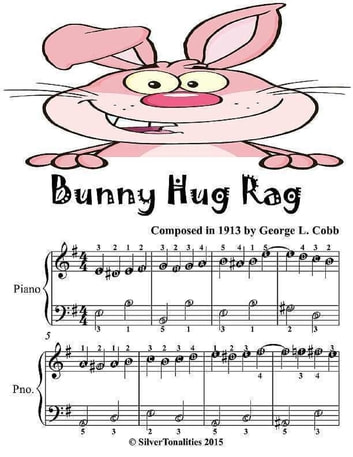 Bunny Hug Rag - Easiest Piano Sheet Music Junior Edition ebook by Silver Tonalities