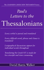Paul's Letters to the Thessalonians ebook by David Harris Walker