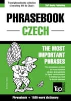 English-Czech phrasebook and 1500-word dictionary ebook by Andrey Taranov
