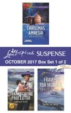 Harlequin Love Inspired Suspense October 2017 - Box Set 1 of 2 - Christmas Amnesia\Thanksgiving Protector\Framed for Murder ebook by Laura Scott, Sharon Dunn, Mary Alford