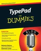 TypePad For Dummies ebook by