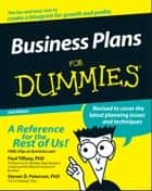 Business Plans For Dummies ebook by Paul Tiffany,Steven D. Peterson
