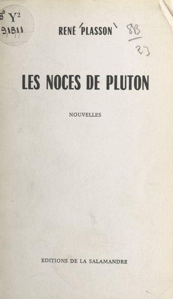 Les noces de Pluton ebook by René Plasson
