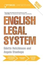 Optimize English Legal System ebook by Angela Stanhope,Odette Hutchinson