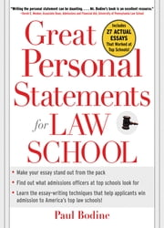Great Personal Statements for Law School ebook by Paul Bodine