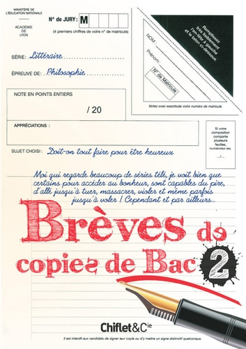 Brèves de copies de bac 2 eBook by Collectif