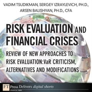 Risk Evaluation and Financial Crises: Review of New Approaches to Risk Evaluation: VaR Criticism, Alternatives and Modifications ebook by Tsudikman, Vadim