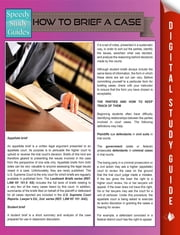 How To Brief A Case (Speedy Study Guides) ebook by Speedy Publishing