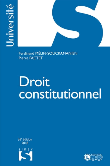 Droit constitutionnel ebook by Ferdinand Mélin-Soucramanien,Pierre Pactet