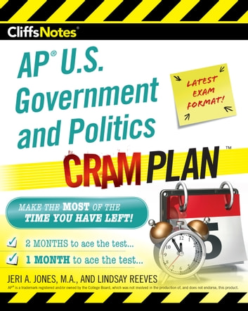 CliffsNotes AP U.S. Government and Politics Cram Plan eBook by Jeri A. Jones,Lindsay Reeves