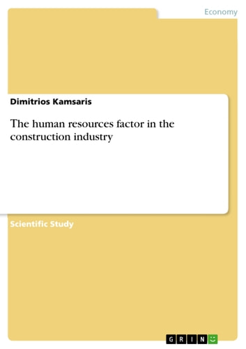 ?he human resources factor in the construction industry ebook by Dimitrios Kamsaris