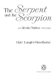 The Serpent and the Scorpion - An Ursula Marlow Mystery ebook by Clare Langley-Hawthorne
