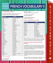 French Vocabulary II (Speedy Language Study Guides) ebook by Speedy Publishing