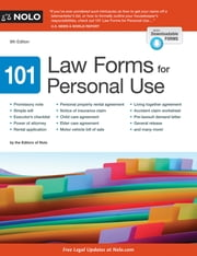101 Law Forms for Personal Use ebook by Editors of Nolo