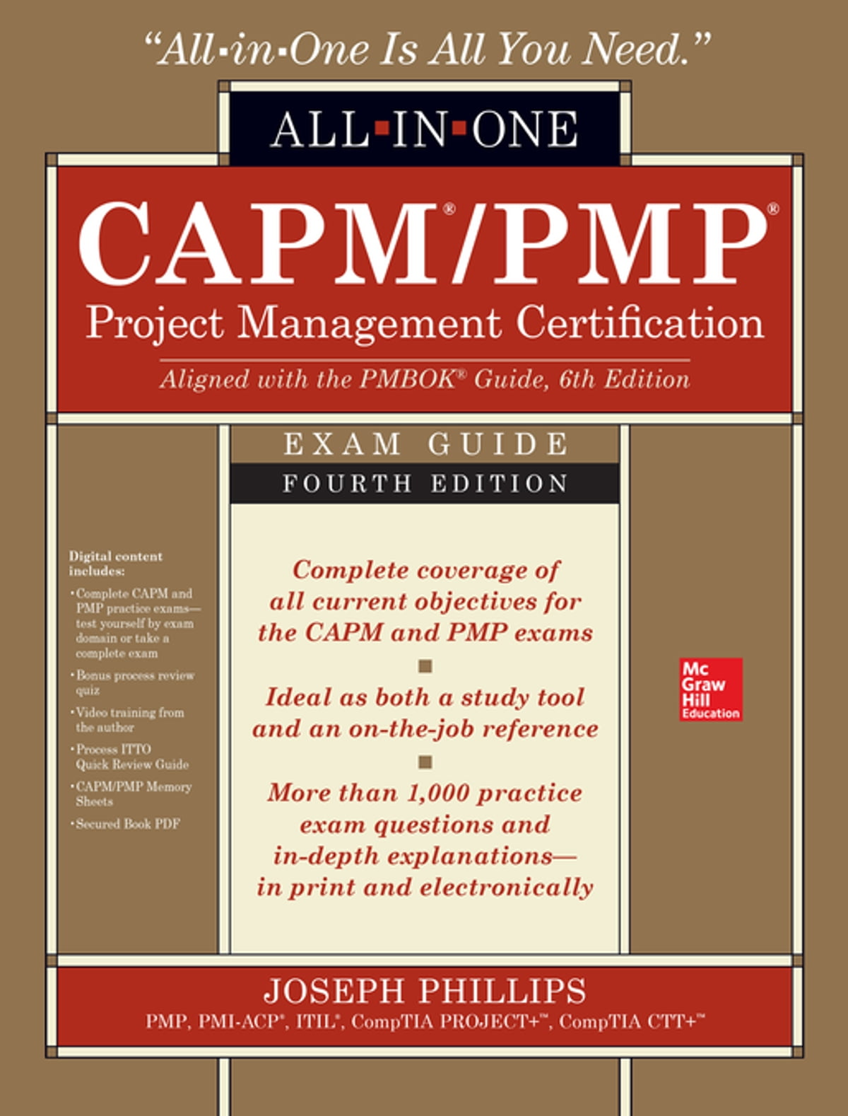 CAPM/PMP Project Management Certification All-In-One Exam Guide, Fourth  Edition eBook by Joseph Phillips - 9781259861598 | Rakuten Kobo