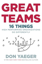 Great Teams - 16 Things High Performing Organizations Do Differently ebook by Don Yaeger
