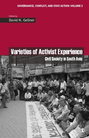 Varieties of Activist Experience - Civil Society in South Asia ebook by Dr David Gellner