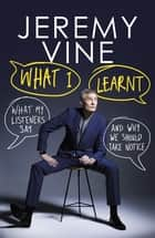What I Learnt - What My Listeners Say – and Why We Should Take Note ebook by Jeremy Vine
