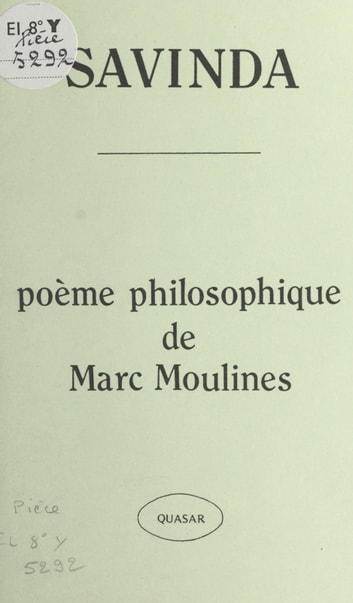 Savinda : poème philosophique ebook by Marc Moulines