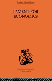 Lament for Economics ebook by Barbara Wooton