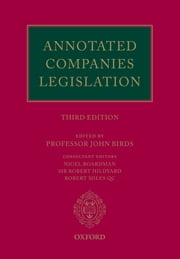 Annotated Companies Legislation ebook by John Birds, Nigel Boardman, Robert Hildyard,...