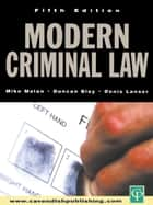 Modern Criminal Law - Fifth Edition ebook by