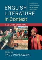 English Literature in Context ebook by Paul Poplawski