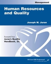 Human Resources and Quality ebook by Juran, Joseph M