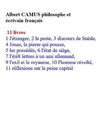 Albert Camus - philosophe et écrivain ebook by Albert Camus