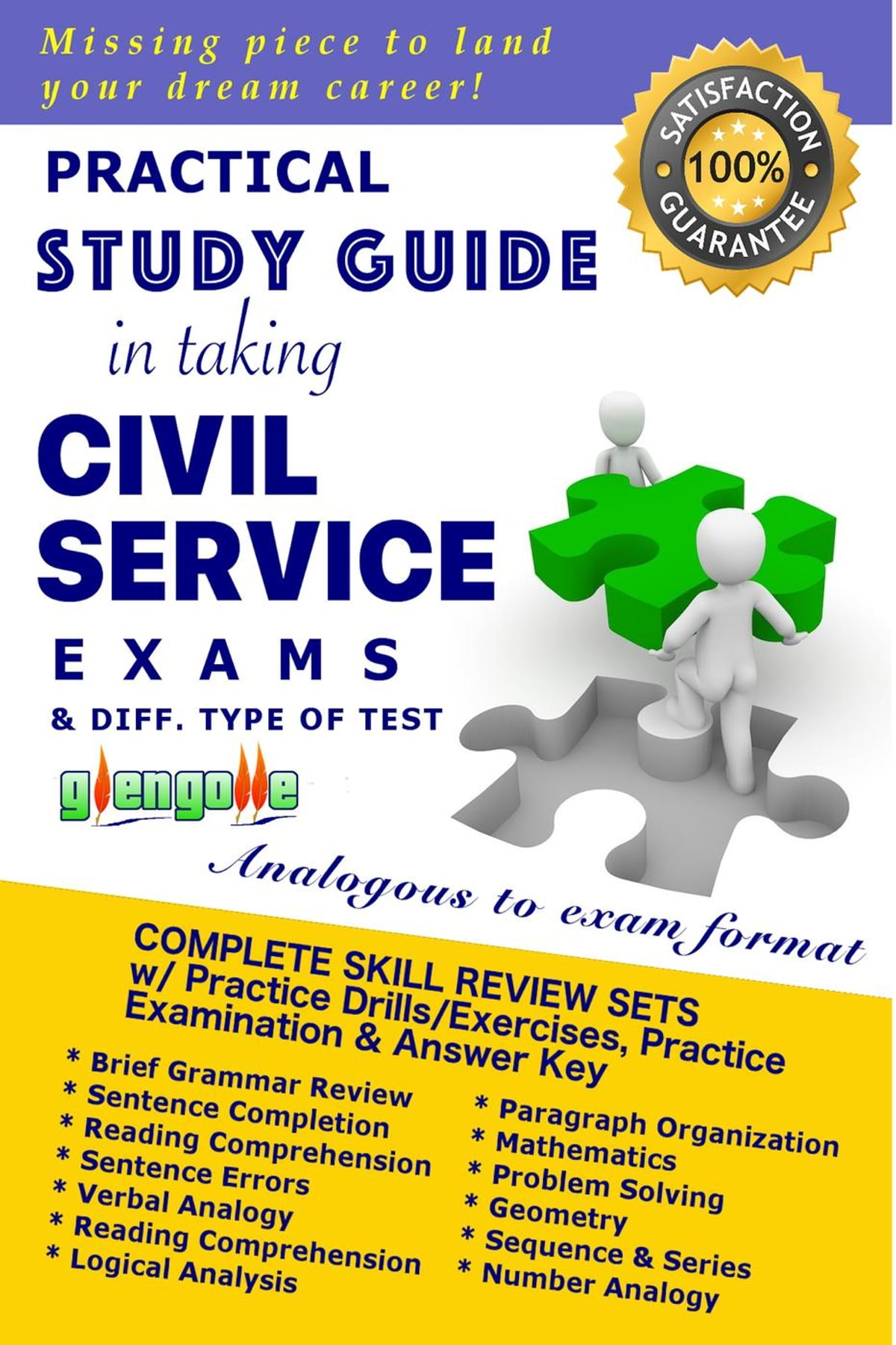 Practical Study Guide in Taking Civil Service Exam and Different Type of  Test eBook by Glen Golle - 9781311612809 | Rakuten Kobo